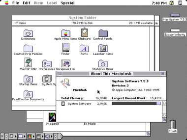 Macintosh System 7.5.3 Screenshot