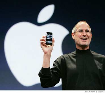 Steve Jobs Iphone Apple Logo